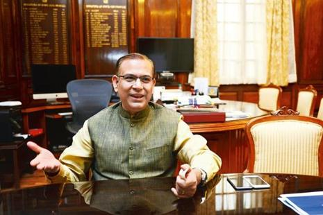 Civil aviation minister Jayant Sinha was in Surat on Sunday to launch SpiceJet's Surat-Delhi flights. Photo: Mint