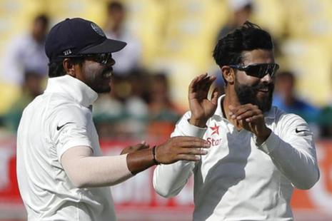 Both Ravindra Jadeja and Umesh Yadav got 3 wickets each as Australia were dismissed for a paltry 137 in their second innings on the third day of the fourth and final cricket Test in Dharamsala. Photo: PTI