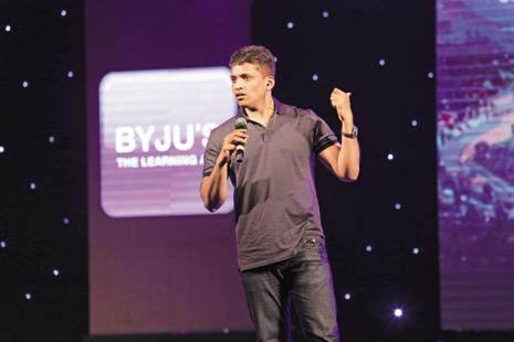 Byju Raveendran of Think and Learn Pvt. Ltd that runs edutech start-up Byju's. Chan Zuckerberg Initiative has also invested in the education technology firm.