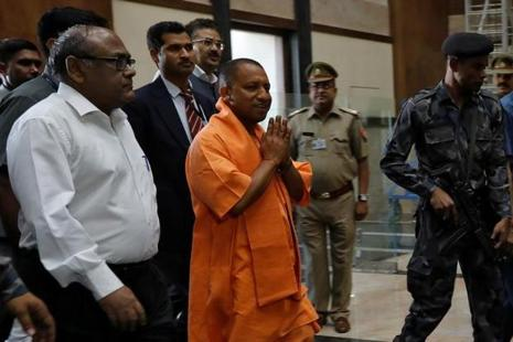 File photo. Uttar Pradesh chief minister Yogi Adityanath also directed the police officials to ensure that their homes and offices are clean. Photo: Reuters