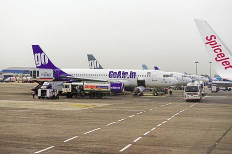 GoAir has five A320neo planes in its 24-aircraft fleet. Thirteen more A320neos are expected to join by March 2018. Photo: Priyanka Parashar/Mint
