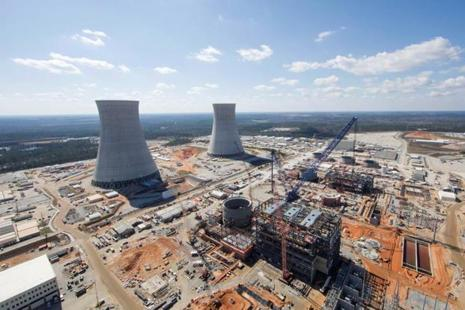 The Vogtle unit 3 and 4 site, being constructed by primary contactor Westinghouse, a business unit of Toshiba, near Waynesboro, Georgia, US. Photo: Reuters