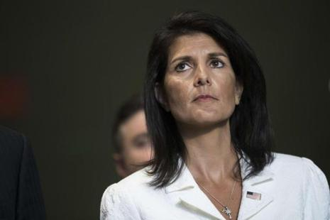 'I am a big fan of women. I think there's nothing they can't do. And I think any democracy that has allowed themselves to really lift up women has benefited from it,'  said US ambassador to the UN Nikki Haley. Photo: AFP
