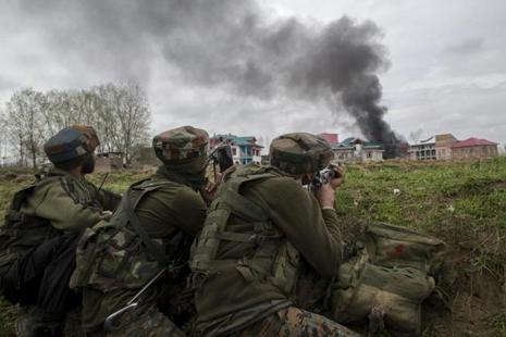 The J&K DGP said antisocial elements were misusing social media to instigate the Kashmiri youths to hurl stones at security forces to help militants flee encounter sites. Photo: AP