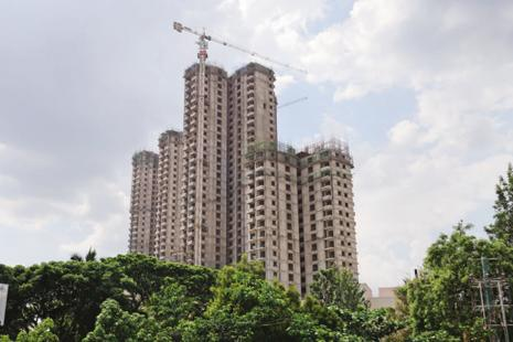 NBFCs currently contribute about 18% of the total institutional funding need of the real estate sector, according to Knight Frank. Photo: Hemant Mishra/Mint