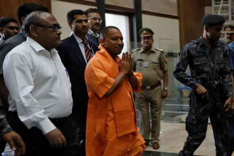 Until now, Adityanath was enjoying the smallest category of 'Y' category VVIP cover by the CISF in his capacity as a member of Parliament. Photo:  Reuters