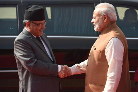 Nepal Prime Minister Prachanda requested India for assistance while speaking about Nepal's local elections to PM Modi, the PMO said. Photo: Prakash Singh/AFP