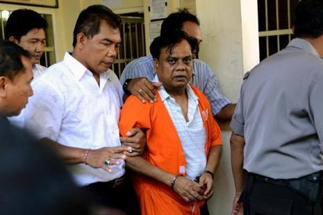 A file photo of Chhota Rajan  who was deported to India after his arrest in Bali in October 2015. Photo: AFP