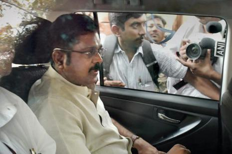 A Delhi court has given time to the Delhi police till 1 May to question AIADMK leader TTV Dinakaran in the EC bribery case. Photo: PTI