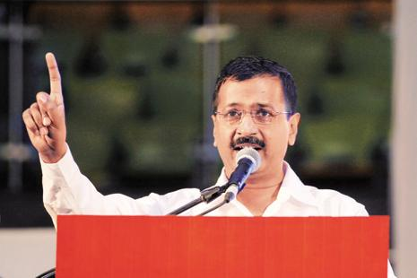 Delhi CM Arvind Kejriwal and other AAP leaders have questioned the credibility of electronic voting machines (EVMs) after the recent assembly elections. Photo: AP