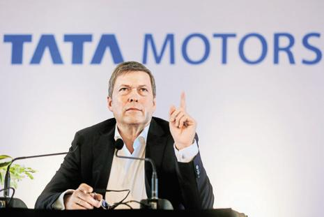 Tata Motors CEO and MD Guenter Butschek's confidence of robust, double-digit growth, stems from the resurgence in passenger vehicle sales after the introduction of models including the Tiago hatchback, Hexa cross-over and Tigor sedan. Photo: Reuters
