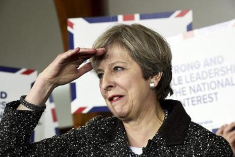 Theresa May is seeking to shore up her mandate for the Brexit talks by calling a snap election for 8 June, with polls suggesting her Conservatives will return with a majority. Photo: AP