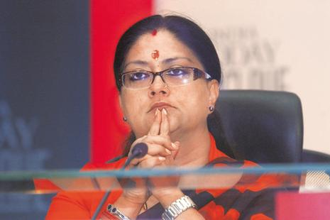 Rajasthan chief minister Vasundhara Raje. Photo: AP