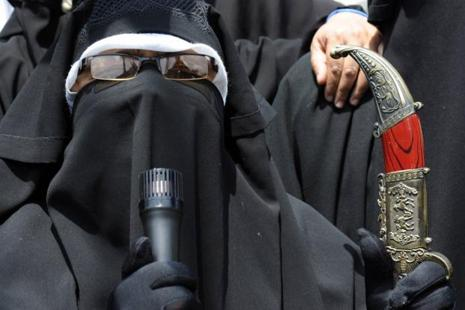 Kashmiri separatist leader Asiya Andrabi was arrested from her residence. Photo: AFP
