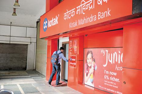 Kotak Mahindra's gross bad loans as a percentage of total loans rose to 2.59% at end-March, from 2.42% in December. Photo: Mint