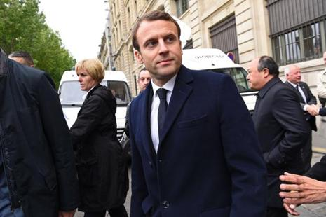 A file photo of Emmanuel Macron. Photo: AFP