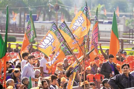 The BJP emerged as the clear winner in the MCD elections with 184 seats in its kitty, bettering its existing strength of 138. Photo: Ramesh Pathania/Mint