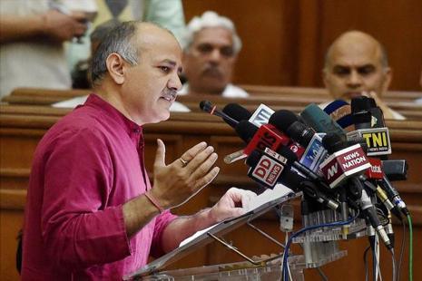 It was not immediately clear whether Manish Sisodia had regained full access to his account on the micro-blogging site. Photo: PTI