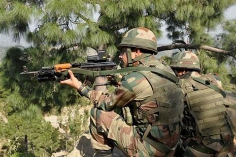 Indian Army launched 'punitive fire assaults' on Pakistani positions across the Line of Control on Tuesday. Photo: PTI