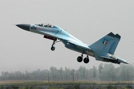A file photo. The last reported position of Sukhoi-30 that went missing on Tuesday was 60 km northwest of Tezpur.  Photo: AFP