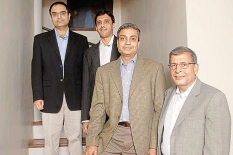 (From left) Nexus Venture Partners' co-founder Suvir Sujan, managing director Anup Gupta, co-founder Sandeep Singhal and  co-founder Naren Gupta.
