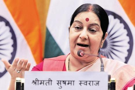 External Affairs Minister Sushma Swaraj welcomed Uzma back home, calling her 'India's daughter'. Photo: PTI