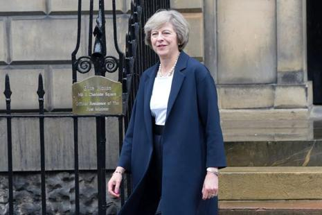 British Prime Minister Theresa May will raise UK concerns over leaks of Manchester attack probe intelligence with Donald Trump. Photo: AFP