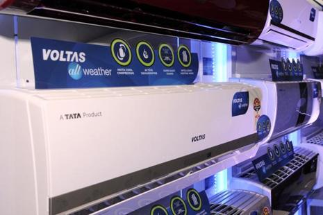 Voltas' stock soared 6.25% to settle at Rs475.50 on the BSE. Photo: Sonu Mehta/HT