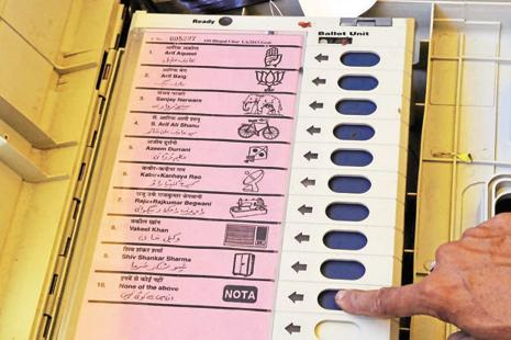 After the Uttar Pradesh assembly polls, the Bahujan Samaj Party and  Aam Admi Party had questioned the reliability of the electronic voting machines (EVMs). Photo: Mujeeb faruqui/HT