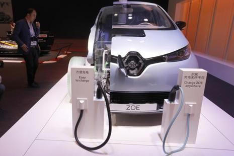 Renault, maker of the Zoe electric car, predicts total ownership costs of electric vehicles will by the early 2020s equal conventional internal combustion engine vehicles. Photo: AP