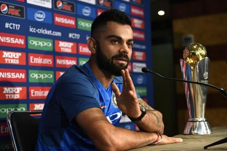 Virat Kohli will captain the Indian cricket team in the Champions Trophy. Photo: Reuters