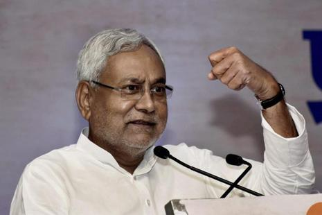 A file photo of Bihar CM Nitish Kumar. Photo: PTI