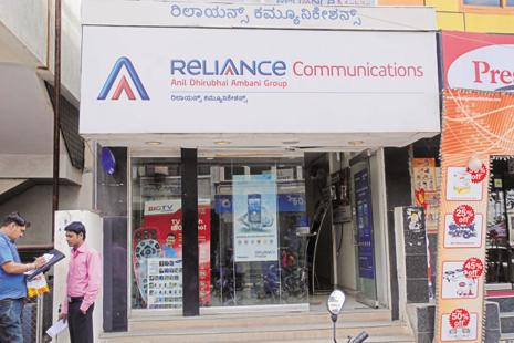 The scrip of the company has been falling since the past few sessions after rating agency after Credit Analysis and Research downgraded the credit rating on some of RCom's long-term and short-term debt. It has fallen 29% so far this month. Photo: Hemant Mishra/Mint