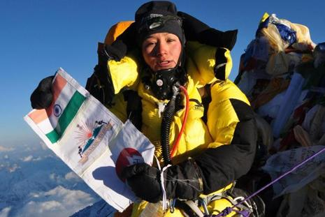A file photo of Arunachal Pradesh mountaineer Anshu Jamsenpa. Photo: PTI