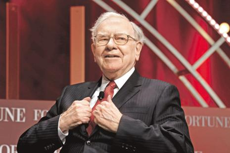 Warren Buffett, who as chairman and largest shareholder in Berkshire Hathaway Inc. is the world's fourth-richest person with a net worth of $74.5 billion, purchased the shares on 19 May. Photo: Reuters