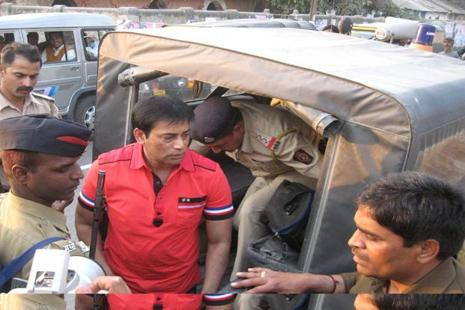 A file photo of the 1993 Mumbai blasts accused Abu Salem. Photo: Hindustan Times