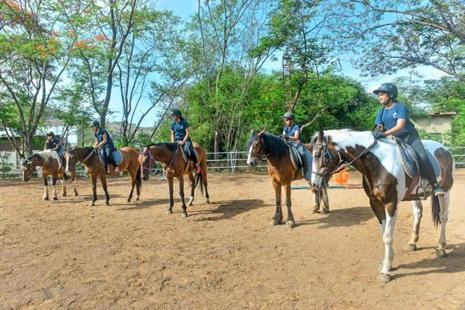 The Japalouppe Equestrian Centre has programmes for both adults and children. Photographs by Aniruddha Chowdhury/Mint