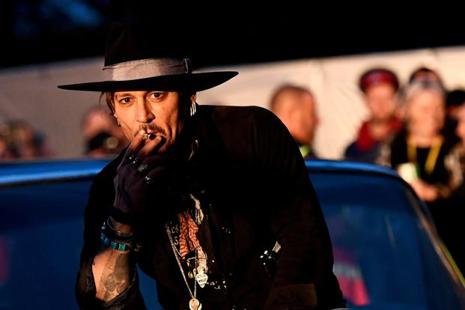 """... There are a lot of wonderful dark, dark places he could go,"" said Johnny Depp about Donald Trump. Photo: Dylan Martinez/Reuters"