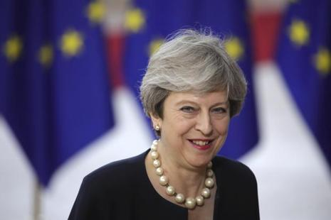 A file photo of British prime minister Theresa  May. Photo: AP