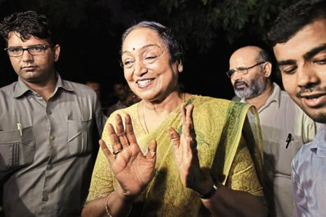 The opposition parties have fielded Meira Kumar from Bihar as presidential candidate. Photo: HT