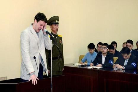 Otto Warmbier was treated like any other convict in strict accordance with domestic laws and internationals standards, said North Korea. Photo: Reuters
