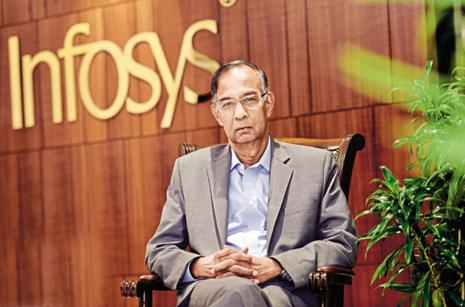 A file photo of Infosys chairman R.Seshasayee. Photo: Mint