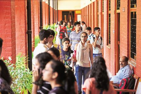 Breaking away from tradition, off-campus colleges have announced higher cut-offs this year, similar to those announced by North and South campus (on-campus) colleges. Photo: Saumya Khandelwal/HT
