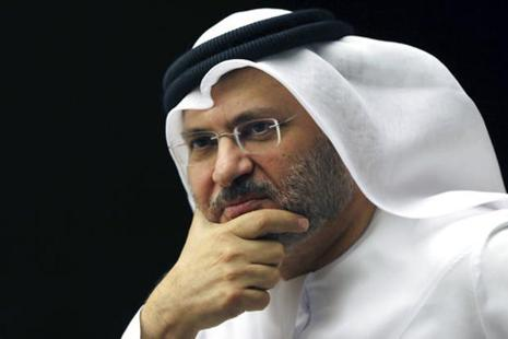 UAE's minister of state for foreign affairs Anwar Gargash played down any possibility of a military intervention against Qatar. Photo: Kamran Jebreili/AP