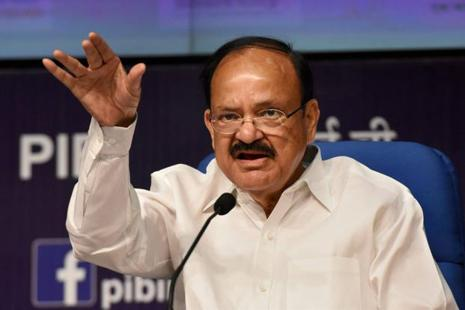 Venkaiah Naidu was speaking at an event held to dedicate 100 volumes of Collected Works of Mahatma Gandhi to the Sabarmati Ashram. Photo: PTI