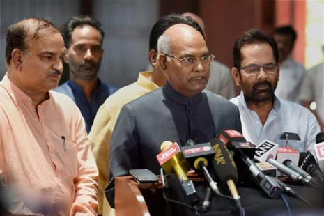 Ram Nath Kovind will visit Uttar Pradesh on Sunday to seek support from members of both the Houses of the state. Photo: PTI