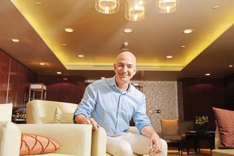 File photo. Jeff Bezos was among the 20 US business leaders who interacted with PM Narendra Modi as part of a roundtable interaction. Photo: Mint