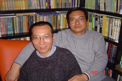 Liu Xiaobo (left) is one of only three people to have won the Nobel Prize while jailed by their own government. Photo: AFP