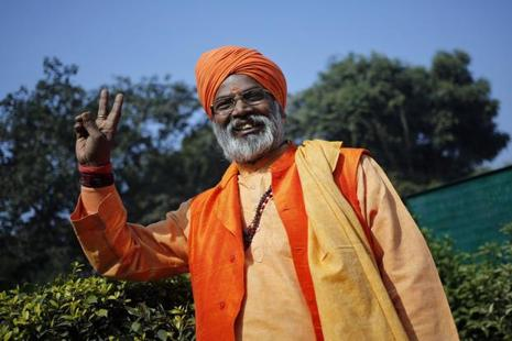 No power on earth can stop the construction of a Ram temple in Ayodhya, said Sakshi Maharaj. Photo: Reuters