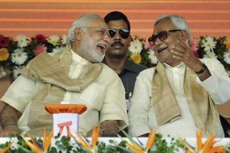 Prime Minister Narendra Modi (left) and Bihar CM Nitish Kumar, who has supported BJP's candidate Ram Nath Kovind for presidential election slated for next month. Photo: